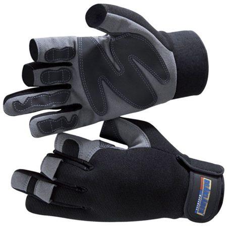 Ujjatlan munkavédelmi kesztyű (szint-bőr, gumi)