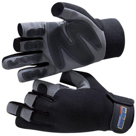 Ujjatlan munkavédelmi kesztyű (szint-bőr, gumi) 2233-3913-9994