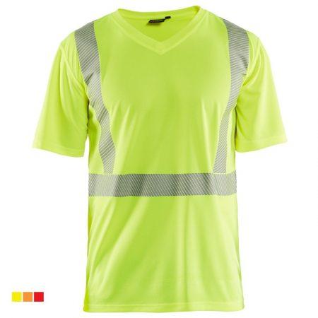 """High Vis """"V"""" nyakú UV védős póló 3386-1013-3300"""