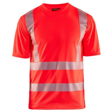 """High Vis """"V"""" nyakú UV védős póló 3386-1013-5500"""