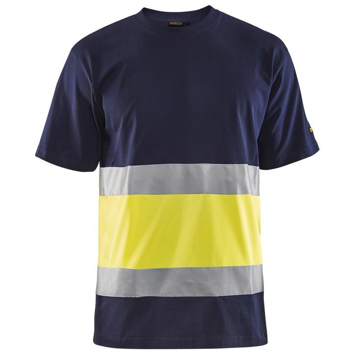 dd46503329 Környakas láthatósági póló (100%pamut, 180g) - 4Hend Munkaruha ...
