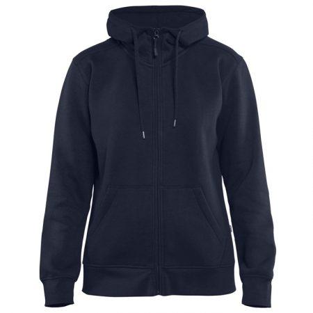 Női kapucnis pulóver cipzárral 3395