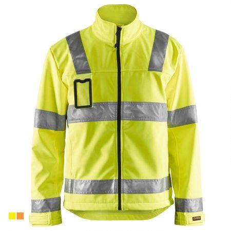Láthatósági Softshell kabát (3 rétegű softshell, 305g)