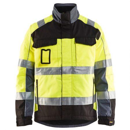 High-Vis téli kabát (kevertszálas, víztaszító 240g+bélés)