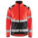 Láthatósági softshell dzseki (100% poliészter, 2 rétegű, ripstop, gyapjú, 255 / m² )