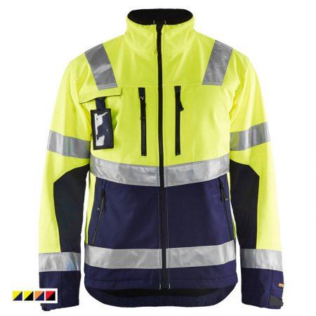 High-Vis Softshell kabát vízálló 4900-2517-3389